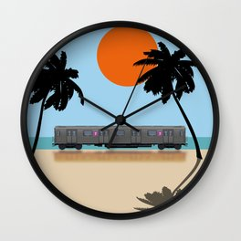 Palm Subway Wall Clock