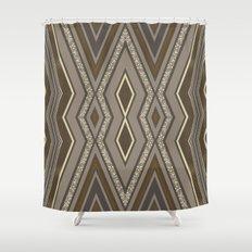 Geometric Rustic Glamour Shower Curtain