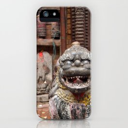 Fu with Prayer Wheels in Background iPhone Case