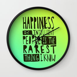 Hemingway: Happiness Wall Clock