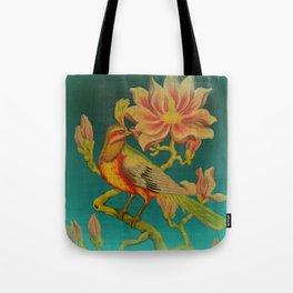 Indian Bird Trade Label Tote Bag