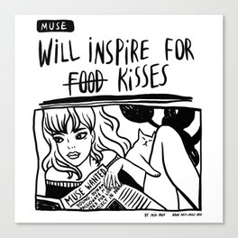 Will Inspire For Kisses Canvas Print