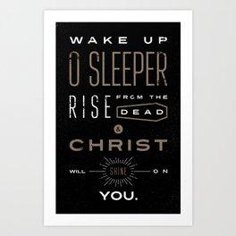 Wake Up O Sleeper Ephesians Bible Verse Typography Art Print