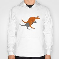 kangaroo Hoodies featuring Kangaroo by mailboxdisco