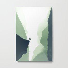 In Mist Gorge Metal Print