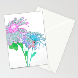 Floral abstract 96 Stationery Cards