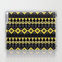 Mudcloth Style 2 in Black and Yellow Laptop & iPad Skin
