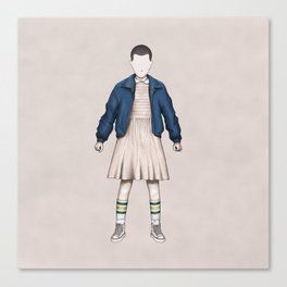 Eleven without a face (Stranger T.) Canvas Print