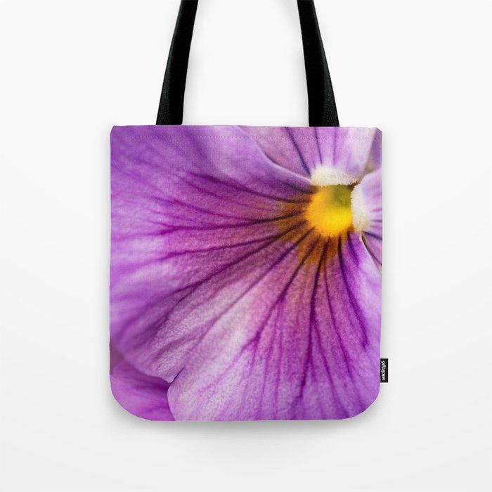 Purple Pansy Flower Close-up #decor #society6 #buyart Tote Bag