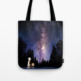 calvin and hobbes dreams Tote Bag
