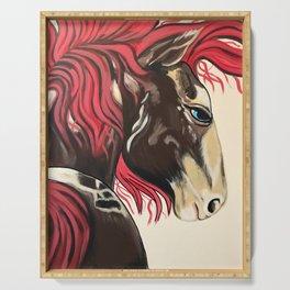 Cinnamon Horse by Noelles's Art Loft Serving Tray