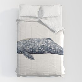 Grey whale Comforters