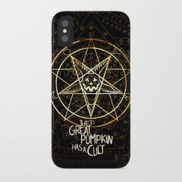 Cult of the Great Pumpkin: Pentagram iPhone Case