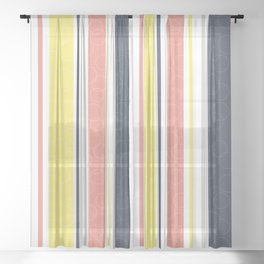 Circles and stripes pattern Sheer Curtain