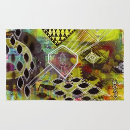 """""""Visuals for Airports #1"""" Original Painting by Lynzee Lynx Rug"""