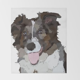 Bella the Dog Throw Blanket