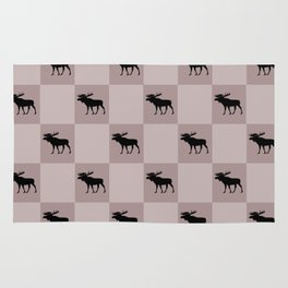 moose cool home pattern Rug