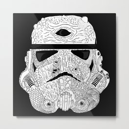 Gore Trooper Blk/Wht Metal Print