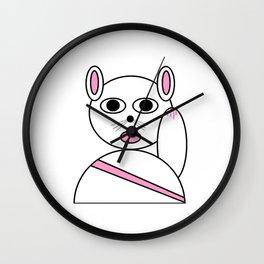 Maneki neko pink version Wall Clock