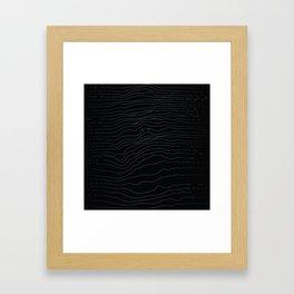 hidden face Framed Art Print