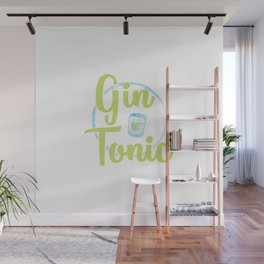 Gin & Tonic | Alcohol Longdrink Gift Idea Wall Mural