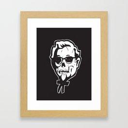Skull Sanders Framed Art Print