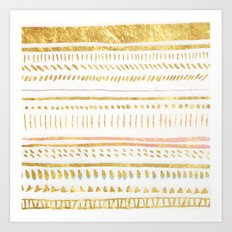 GOLD TRIBE Art Print