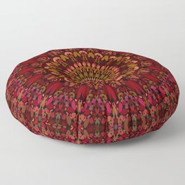 Bohemian Geometric Flower Mandala Floor Pillow