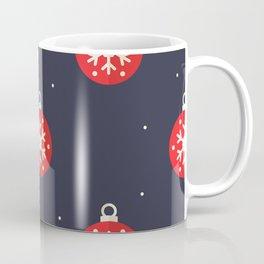 Red Christmas Ornament Pattern Coffee Mug