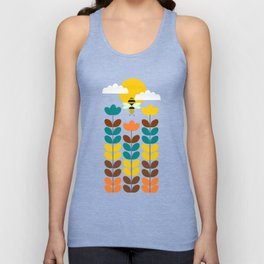 Flowers with bees Unisex Tank Top