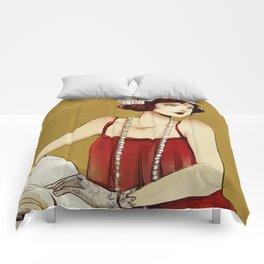 Flapper Girl #2 Comforters
