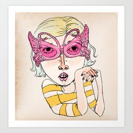Butterfly Glasses Art Print