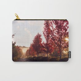 Fall Sunrise in the Fog Carry-All Pouch