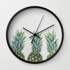 Pineapple Trio Wall Clock