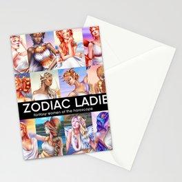 12 Zodiac Ladies Stationery Cards