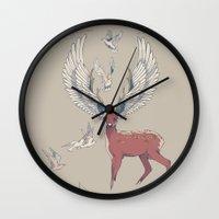 freedom Wall Clocks featuring Freedom by Huebucket