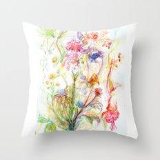 Floral Spree Throw Pillow