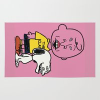 peanuts Area & Throw Rugs featuring Peanuts and Butthead by Ashley A