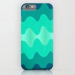 Under the Influence (Marimekko Curves) Seaside iPhone Case