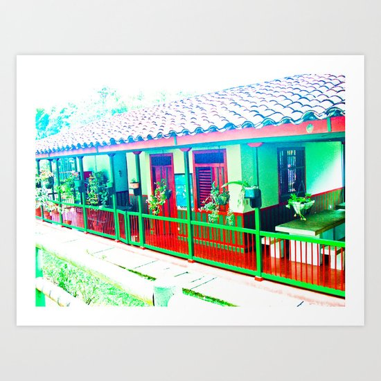 Colombia Coffee Park. Art Print