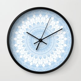 Baby Blue Boho Mandala Wall Clock