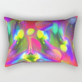Funky colors abstract with polka dots balls Rectangular Pillow