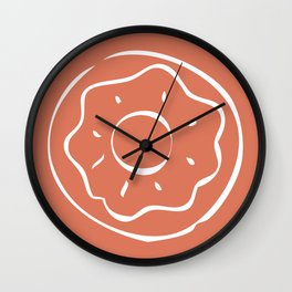 Caramel Town - Red Dotty Wall Clock
