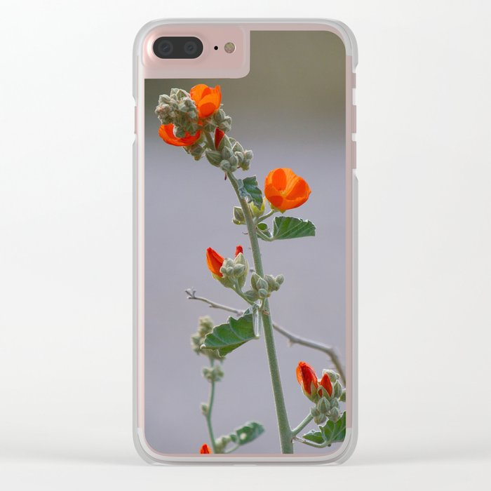Desert Wildflower - 3 Clear iPhone Case