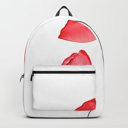 3 red poppies watercolor Backpack
