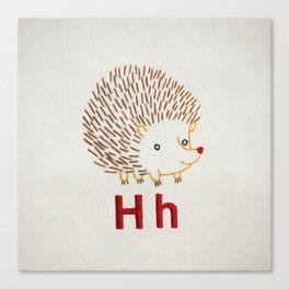 H Hedgehog Canvas Print