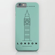 Minimal London City Poster iPhone 6s Slim Case