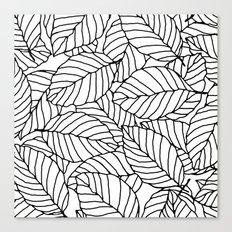 Sweet leafs:  White Canvas Print