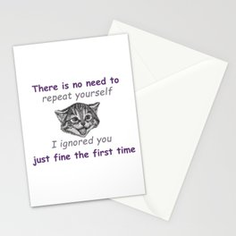 Ignoring You Stationery Cards