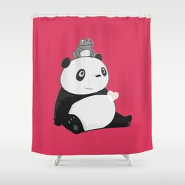 Panda 3 Shower Curtain